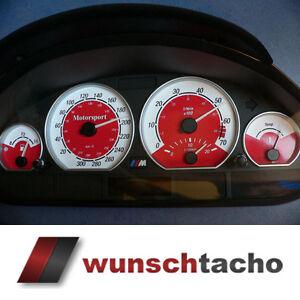 """Tachoscheibe für Tacho BMW E46 Benziner *Red Motorsport""""  310 kmh Top"""