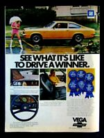 "1973 Chevrolet Vega GT Original Print Ad .8.5 x 11"""