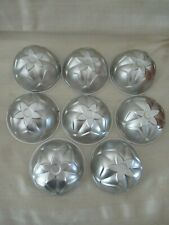?vintage 8 Mini Flower Domed Molds cake dessert gelatin soap candle
