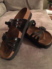 Birkis by Birkenstock Black Moorea Sandals Double Strap Womens L9 M7 EUR 40,EUC