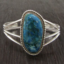 with Large Lapis Stone Sterling Silver Wire Bracelet