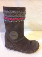 Girls Clarks Brown Suede Boots Size 7F