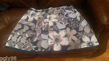 Blue WHite Gray Floral Design Skirt by Avenue BNWT Size 18/20