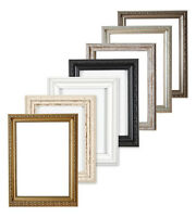 Ornate Swept Shabby Chic Picture Frame Photo Frame Poster Decor Gold Black White