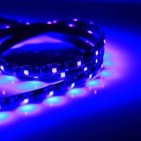 PCB Black 16.4FT UV Purple 3528 LED Strip 300 SMD Flex Light Waterproof 12V DC
