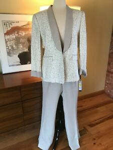 New TAHARI BY ARTHUR LEVINE Tux PANT SUIT Nw Tag SIZE 16 retail $280 33 inseam