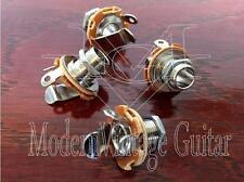 "4 - Modern Vintage Guitar  Female 1/4"" phone Jack Speaker Cabinets METRIC Thread"
