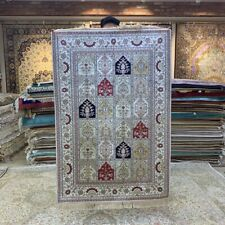 Yilong 3'x5' Four Seasons Hand Knotted Silk Rug Porch Home Interior Carpet 227B