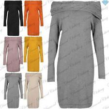 Long Sleeve Stretch Jumper Dresses