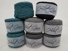 Lot of 8x Holst Garn 100% Wool Green, Gray, & Black Yarn Balls DR