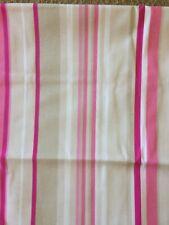 "Harlequin Rush Fabric - 100% cotton- pink/white striped - 54"" x 70"" curtain"