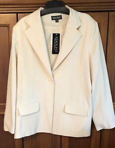 New Women's Adolfo  Ivory Blazer Size 20 Poly/spandex $120 MSRP