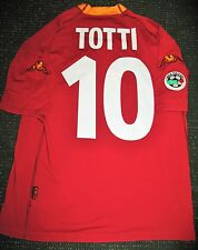 Authentic Totti As Roma Kappa 2000 2001 Jersey Maglia Italy Italia Shirt L