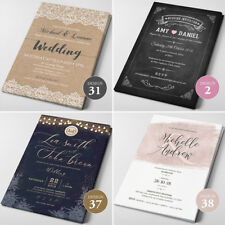 Wedding Invitations, Personalised, Day/Evening, RSVP Cards  - FREE Envelopes