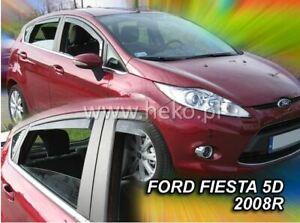 4 Deflettori Aria Antiturbo per Ford Fiesta MK6 2008-2017 5 porte