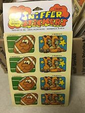 1 VINTAGE 80's paper art leather  Sniff sticker pack $1.50 ship