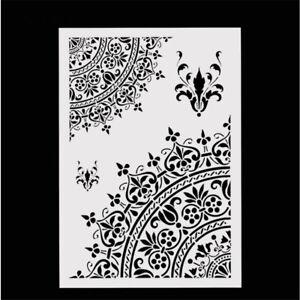 Mandala Crown Design Stencils Scrapbooking DIY Reusable Hand Craft Making Decor