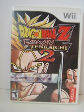 Dragon Ball Z Budokai Tenkaichi 2 Nintendo Wii Working No Book Disc Scratched