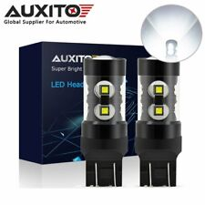 2x AUXITO 7443 7444 100W LED Reverse Brake Tail Parking DRL Light Bulb 6000K