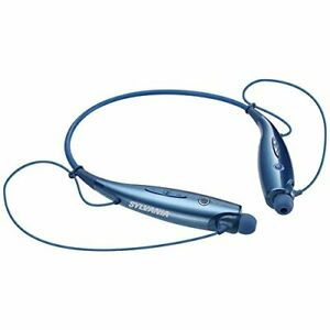 Sylvania Sbt129-c-blue Bluetooth[r] Sports Headphones With Microphone [blue]