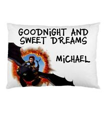 HOW TO TRAIN YOUR DRAGON TOOTHLESS Personalized childrens kids bed pillow case