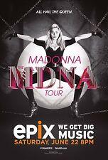 "MADONNA ""ALL HAIL THE QUEEN MDNA TOUR"" 2013 CONCERT POSTER- Pop,Dance,Rock Music"