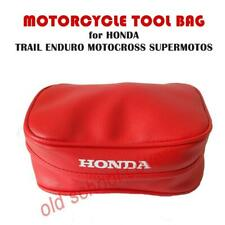 MOTORCYCLE TOOL BAG POUCH RED HONDA for XR models FENDER MUDGUARD ENDURO TRAIL
