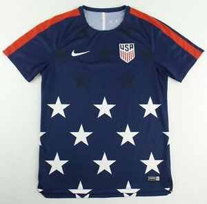 Authentic Nike Team USA Gold Cup Pre-Match Soccer Jersey Size Mens M #884996-410