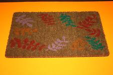 Paillasson TAPIS COCO antidérapant IMPRIME FEUILLE 40 cm x 60 cm . Neuf