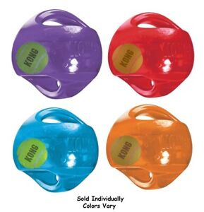 Large Dog Toy Jumbler Ball Shaped Tennis Ball inside 2-in-1 Squeaker Colors Vary