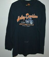 Harley Davidson Fat Boy Longsleeve Sedona Hawg AZ Mens T-Shirt XL Bleach mark
