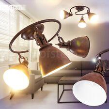 Lustro Faretti Inclinabili Lampada Salotto Vintage Luce Spot Stile Industriale