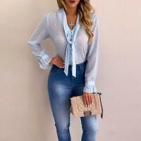 Shirt casual long sleeve tops new chiffon floral t-shirt Women blouse fashion