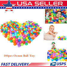 Ocean Ball 100pcs Colorful Soft Secure Baby Kids Boy Girl Pit Toy Swim Fun Play.