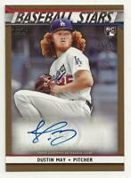 2020 Topps Series 1 DUSTIN MAY Baseball Stars Autograph Auto GOLD /50 Dodgers RC