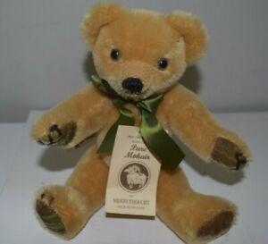 """MerryThought Harrods Golden  Pure Mohair Teddy Bear Original Tags 12"""" England"""