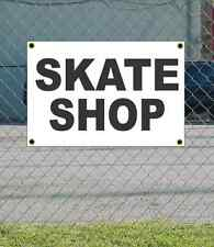 2x3 SKATE SHOP Black & White Banner Sign NEW Discount Size & Price FREE SHIP