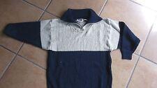 Strick-Pullover von Topolino  -Jungen Gr. 128 blau-beige