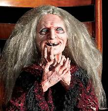 Halloween LifeSize Animated LAUGHING GRANNY HAG WITCH Haunted House Theater Prop