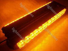 "72W 24 LED 12"" DOUBLE SIDE FLASH WORK LIGHT BAR BEACON WARN STROBE AMBER 12/24V"