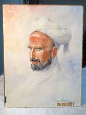 Orientalisme orientaliste aquarelle portrait