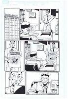 Spider-Man Original Art Page Hydro-Man J. Jonah Jameson Marvel Adventures