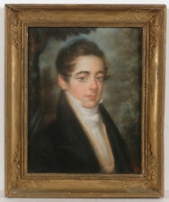 """Portrait of a young aristocrat"", French School, high quality pastel!!, 1815/20"