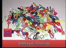 """5 Lot 550 Paracord Zipper Pull / KeyChains ~2.5"""" - Mixed Colors"""