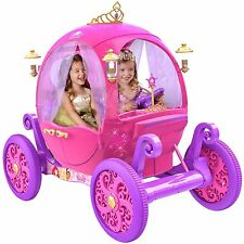 24V  Disney Princess Carriage Ride-On Electric Cars Kids Ride On Toys Girls New.