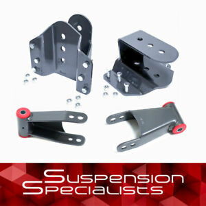 """3""""-5"""" Rear Drop Lowering Hangers Kit For 1999-2007 Ford F350"""