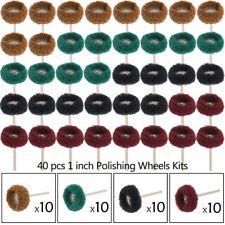 "40Pcs 1"" 25mm Abrasive Wheel Buffing Polishing Wheel Set For Dremel Rotary Tool"