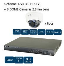 8CH HD-TVI DVR + 8 CAMERA 1080P NIGHT VISION 2.8MM Lens DOME  CCTV Security