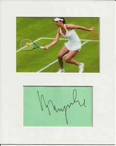 Tsvetana Pironkova tennis signed genuine authentic autograph signature AFTAL COA