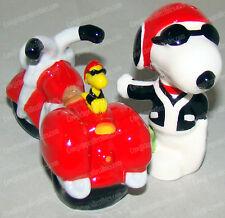 Joe Cool (Snoopy) & Motorcycle Salt Pepper Shakers (Peanuts by Westland, 18275)